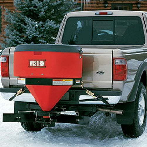 Western Low Profile Tailgate Spreader Model 500 with Wireless Plug n Play Controller