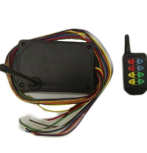 8 Button 8 Function Wireless Transmitter and Wireless Receiver for DC Applications Wireless