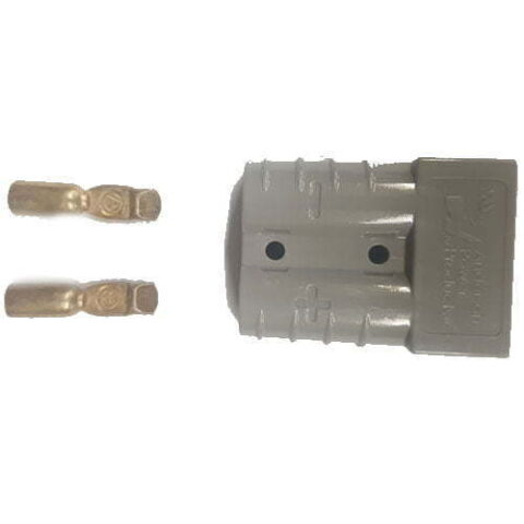 Anderson Plug SB50 - 10 Gauge 50 Amp - Housing and 2 Wire Connectors - Grey