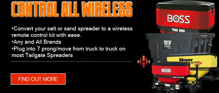 wireless remote control kit, salt spreader wireless, wireless salt spreader, wirelss sand spreader, wireless spreader controller
