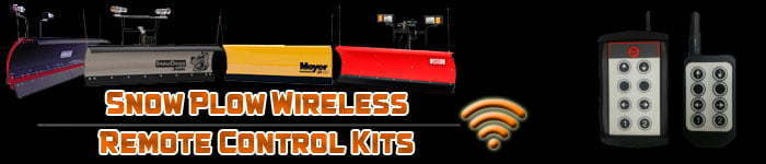 Snow plow wireless remote control kits
