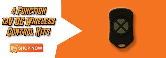 12v dc wireless controller, universal wireless remote, 12v dc wireless controller, wireless controllers, four function wireless controllers, 4 button wireless remote controls